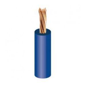 Aansluitdraad 6mm blauw per 5 meter