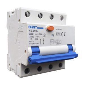 CHINT aardlekautomaat 3 fase 16A 3P+N B-kar 30mA
