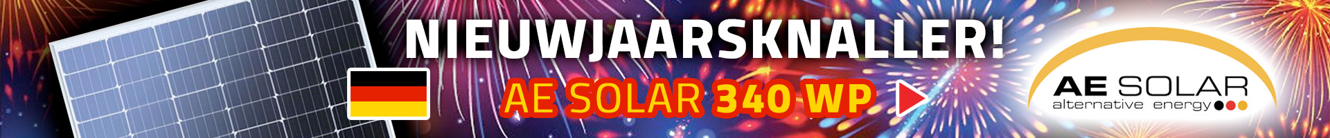 AE Solar 340 WP nieuwjaarsknaller bij zonnepanelenonlinekopen.nl